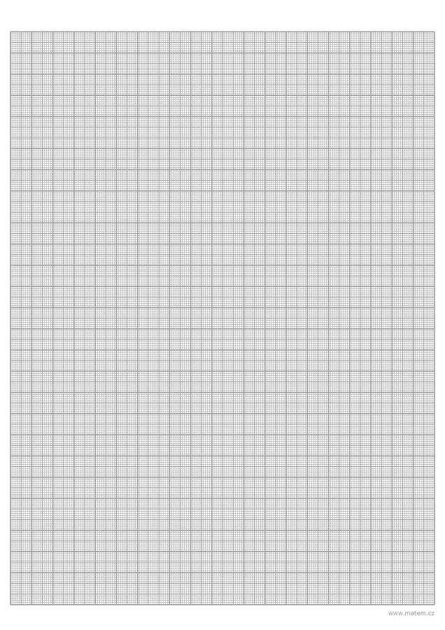 Milimetrový papír – černobílý