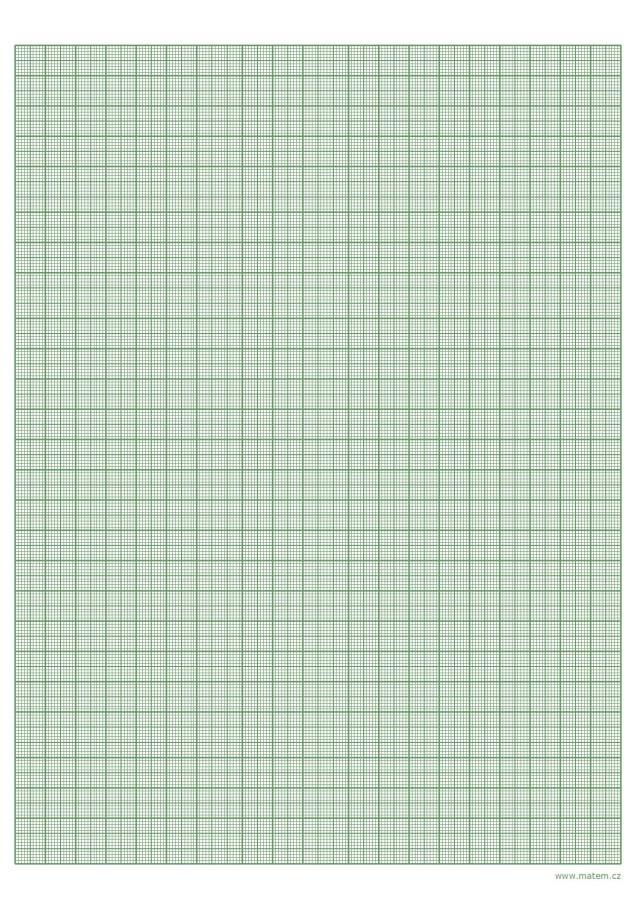 Milimetrový papír – zelený